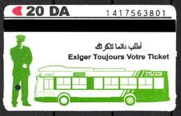 1 Ticket Transport Algeria Bus Algiers Alger - Biglietto Dell'autobus - 1 Billete De Autobús - 1 Busticket Tickets - Bus