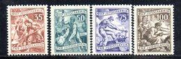 T303 - YUGOSLAVIA 1951 , Lavoro 4 Valori 2a Serie Con Linguella * - 1945-1992 République Fédérative Populaire De Yougoslavie