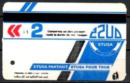 1 Ticket Transport Algeria Bus Algiers Alger - Biglietto Dell'autobus 1 Billete De Autobús 1 Busticket Tickets - Bus