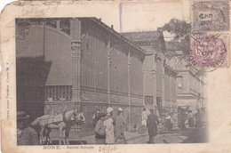 BONE. MARCHE FRANÇAIS. GRAND BAZAR PARISIEN. CIRCULEE TO BRESIL 1906. AFRANCHISE FRANÇAISE 2 COLOURS- BLEUP - Annaba (Bône)