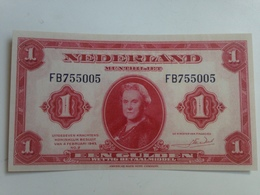 Billete Holanda. 1 Gulden. 1943. Amsterdam. II Guerra Mundial. Réplica. Sin Circular - [2] 1815-… : Reino De Países Bajos