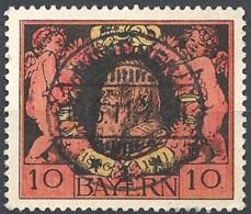 Bayern, 1911 Prince Regent Luitpold, 10Pf  # Michel 93 - Scott 93 - Yvert 93 Used - Bavière