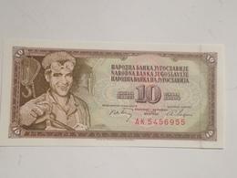 Billete Yugoslavia. 10 Dinares. 1968. Original. Sin Circular - Yugoslavia