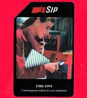 ITALIA - Scheda Telefonica - SIP - Usata - 150 Milioni Di Carte - OCR Corto 14 Mm - Golden 134B - C&C 2191B - Italy