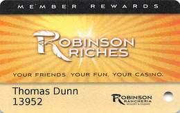 Robinson Rancheria Casino - Nice, CA USA - Slot Card - Casino Cards