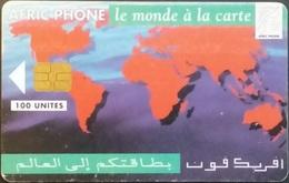 Telefonkarte Marokko - Weltkarte,worldmap - 100 Units - Morocco