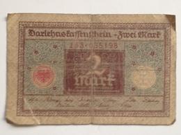 Billete Alemania. 2 Marcos. 1920. Marrón - 2 Mark
