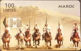Telefonkarte Marokko - Reiter - 100 Units - Morocco