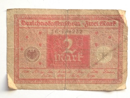 Billete Alemania. 2 Marcos. 1920. Rojo - 2 Mark
