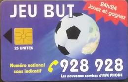 Telefonkarte Marokko - Werbung - Fußball - 25 Units - Morocco