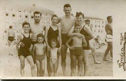 GROUP GRUPO KIDS OLD SWIMSUIT MAILLOT BEACH PLAYA MAR DEL PLATA ARGENTINA POSTAL PHOTO FOTO YEAR 1944 SIZE 9X14 LILHU - Argentinië