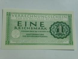 Billete Whermacht. Ejército Alemán. 2 Guerra Mundial. 1 Marco. 1944. Réplica - [ 4] 1933-1945 : Tercer Reich
