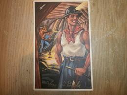 Carte De Ste Barbe Représentant Un Mineur - Mines