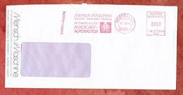 Briefdrucksache, Francotyp-Postalia F68-0068, Mensch Und Maschine, 50 Pfg, Graefelfing 1988 (58038) - BRD