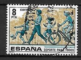 ESPAGNE    -    SPORT POUR TOUS  /  VELO  /  FOOT   -   Oblitéré - Stamps