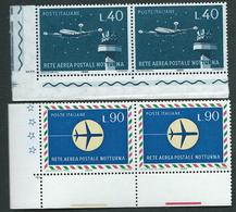 Italia 1965; Rete Aerea Postale Notturna, Serie Completa In Coppie D' Angolo Inferiore. - 1961-70:  Nuovi