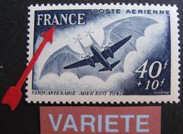 R1692/10 - 1948 - POSTE AERIENNE - N°23b NEUF** - VARIETE ➤➤➤ HACHURES SUR FRANCE - Errors & Oddities