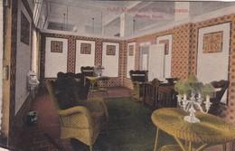 HOTEL WASHIINGTON, COLON, PANAMA. READING ROOM. MADURO JR. CIRCA 1910- BLEUP - Panama