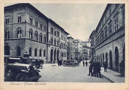"""07505 """"PERUGIA - PIAZZA GARIBALDI"""" ANIMATA. AUTO ANNI '30. CART. ILL. SPED. '43 - Perugia"""