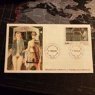Enveloppe Avec Timbre Paul Delvaux Premier Jour D'Emission Numismatique Française - Autres Collections