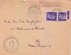 Lettre De Sarrebourg (T 329 Saarburg Westmark C) TP 6pfx2=1°éch Le 13/4/42 Pour Metz - Postmark Collection (Covers)