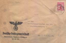 Lettre Préimprimée De Sarrebourg (T 329 Saarburg Wertmark E) TP FM 12pf=1°éch Le 15/6/42 Pour Metz - Postmark Collection (Covers)