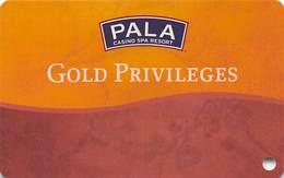 Pala Casino Calif - BLANK Gold Privileges Slot Card - Carte Di Casinò