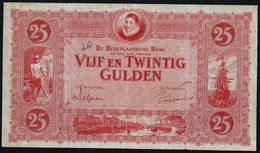 NETHERLANDS 25 GULDEN 1930 PICK#46 VF/ ZF JY 068767 RARE BANKNOTE - [2] 1815-… : Kingdom Of The Netherlands