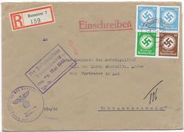 DR Dienst Brief Reco Hannover 3.5.40 Mif. Mi.134,137,140 Eingang Der Polizeipräsident Braunschweig - Allemagne