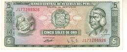 Perù P.99  5 Soles 1969  Unc - Perù