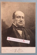 Gravure Autoportrait Du Peintre Animalier Louis Godefroy JADIN Avec Signature Autographe (imprimée ?) - Estampes & Gravures