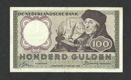 NETHERLANDS 100 GULDEN 1953 PICK #88VF RARE - [2] 1815-… : Regno Dei Paesi Bassi