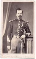 Militaire  C.1859 Avec Sabre Photo J Geiser Alger Cdv Uniforme - Seconde Empire Prosper Roy Medaille - Guerre, Militaire