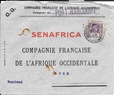 NIGERIA COVER/LETTRE 1927 Stamp N.25 -SENAFRICA PORT HARCOURT /LOME Bollo LAGOS - Nigeria (...-1960)