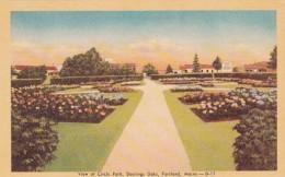 Maine Portland View Of Circle Park Deering Oaks Dexter Press - Portland