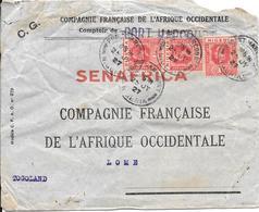 NIGERIA COVER/LETTRE 1927 Stamps N.19 -SENAFRICA PORT HARCOURT /LOME - Nigeria (...-1960)