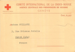COMITE INTERNATIONALE DE LA CROIX ROUGE AGENCE CENTRALE DES PRISONNIERS DE GUERRE GENEVE  STALAG IV 1940 - Documents