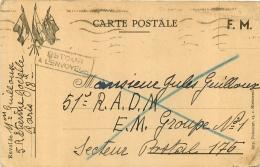 CARTE POSTALE MILITAIRE EN FRANCHISE  RETOUR A L'ENVOYEUR 05/1940 - Guerra Del 1939-45