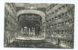 Italy Postcard Unused Napoli Naples Rp Intero Del Teatro S.carlo - Napoli (Naples)