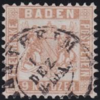 Baden     .     Michel   .     20       .     O   .      Gebraucht    .    /    .    Cancelled - Baden