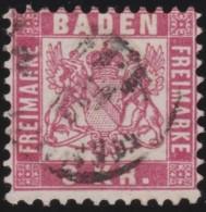 Baden     .     Michel   .     24        .     O   .      Gebraucht    .    /    .    Cancelled - Baden
