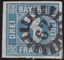 Bayern     .     Michel   .     2 II       .     O   .      Gebraucht    .    /    .    Cancelled - Bayern