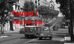 Reproduction D'une Photographie Ancienne D'un Tramway 1200 Ligne 68 Boulevard Chave à Marseille En 1962 - Reproductions