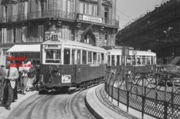 Reproduction D'une Photographie Ancienne D'un Tramway Ligne 35 Avec Publicité Bonbel à Marseille - Reproductions