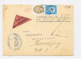 DR Dienst Brief Nachnahme Bayer.Bezirksamt Freising 11.1.36 Mif. Mi.114,140 - Allemagne