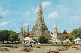 WAT AROON TEMPLE OF DAWN, BANGKOK. PHRON THIP. CIRCULE THAILAND TO ENGLAND 1976- BLEUP - Thailand