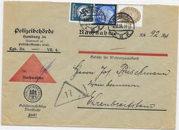 DR Dienst Brief Nachnahme Polizeibehörde Hamburg 8.10.34 Mif. Mi.114,133 + - Allemagne