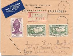 Togo Lettre Lomé Pour Le Soudan 1942 - Togo (1914-1960)