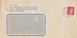 Lettre à Entête (Ortskrankenkasse) De Sarrebourg (T 329 Saarburg Wertm D) TP 12pf=1°éch Le 26/5/44 - Postmark Collection (Covers)