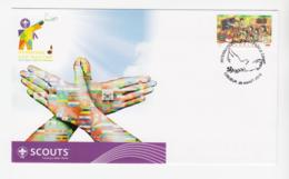 SCOUTS - INDONESIA - 2013  SPECIAL COVER FOR INTERNATIONAL PEACE CAMP  ILLUSTRATED & SPECIALPOSTMARK - Scouting